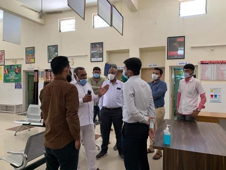 Jasdan-Rajkot આજ રોજ જસદણ સેવા સદન ખાતે સાણથલી સામુહિક આરોગ્ય કેન્દ્ર રોગી સમિતીની બેઠક યોજાઇ.