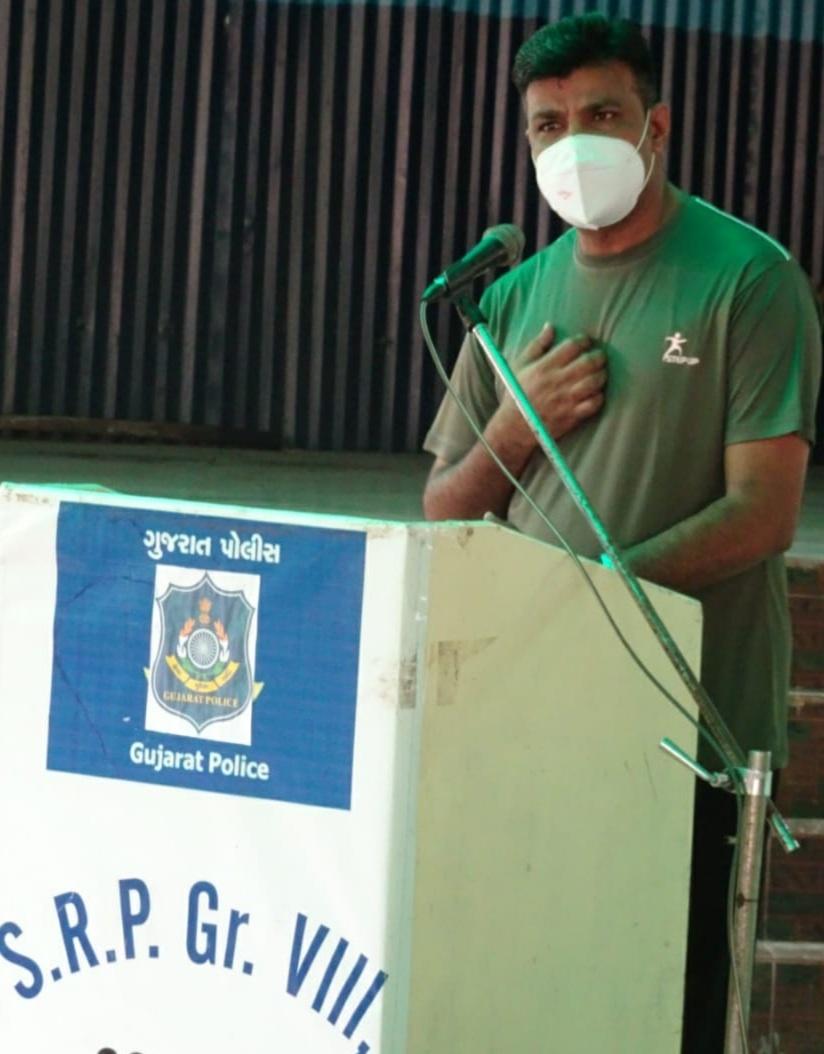 Gondal-Rajkot ગોંડલ એસઆરપીમાં ટ્રેસ મેનેજમેન્ટ ચિંતા ઉપાધિ મુક્તિ સેમિનાર નું આયોજન થયું.