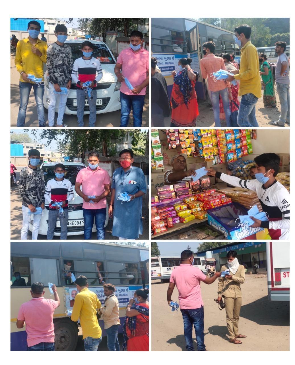 Bhavnagar-ભાવનગર શહેરમાં યુવા સેના દ્વારા 9000 માસ્ક નું ફ્રી માં વિતરણ કરવામાં આવ્યુ.
