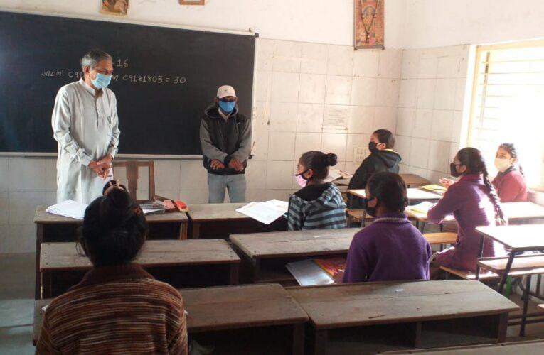 Vinchhiya-Rajkot વિંછીયામાં પ્રત્યક્ષ શૈક્ષણિક કાર્યક્રમનો પાણી પુરવઠા મંત્રીએ શુભારંભ કરાવ્યો.
