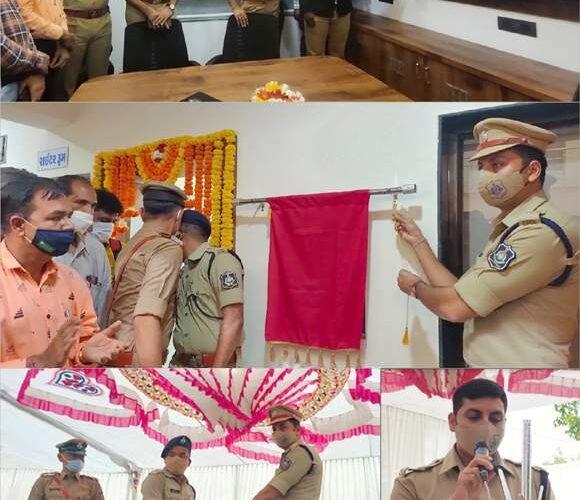 Dhoraji-Rajkot ધોરાજીમાં પોલીસ તંત્ર દ્વારા સી.સી.ટી.વી. કન્ટો્લ એન્ડ કમાન્ડ સેન્ટર નૂ જીલ્લા પોલીસ વડાના હસ્તે ઉદ્ધાટન કરવામાં આવ્યું.
