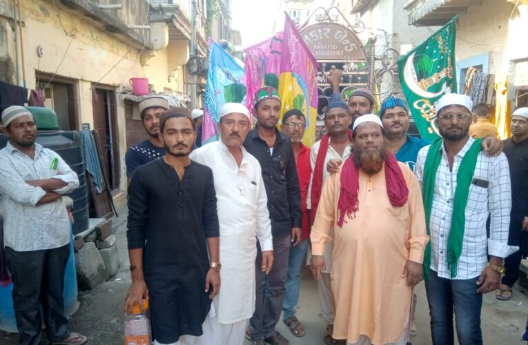 Dhoraji-Rajkot ધોરાજી માં સરકાર શ્રી ની ગાઈડ લાઈન મુજબ જશને ઈદે મીલાદુનનબી નો સહેરી જુલુસ નીકળ્યું.
